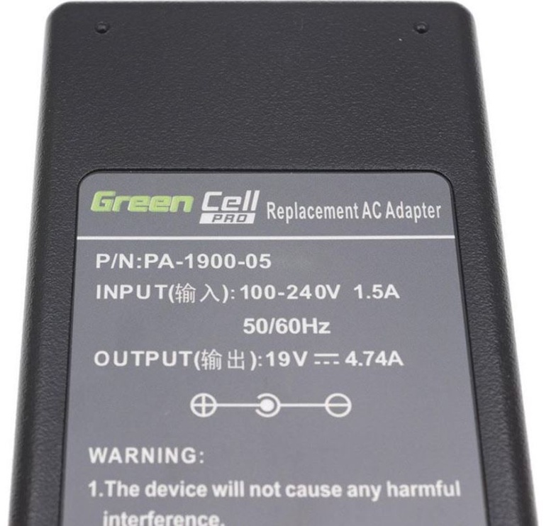 Green Cell Laptop Power Adapter 90W 4.74A 19V