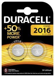 Duracell Long Lasting Power Lithium Tablet Battery CR2016 2pcs