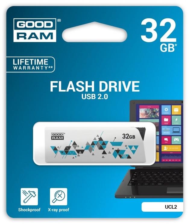 USB atmintinė Goodram CL!CK White, USB 2.0, 32 GB