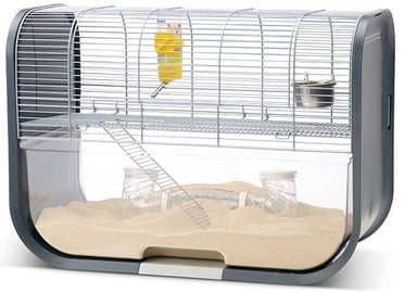 Savic Lugano Two-Storey Gerbil Home Silver/Anthracite