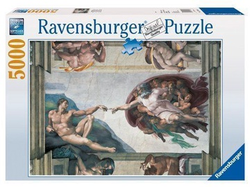 Ravensburger Puzzle Michelangelo Creation Of Adam 5000 pcs