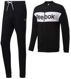 Reebok Mens TE Linear Logo French Terry Tracksuit FP8156 Black XL
