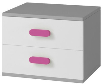 Naktinis staliukas Idzczak Meble Smyk II 22 Grey/Pink