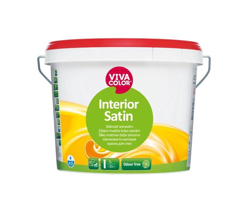 Krāsa sienām Vivacolor Interior Satin, 2.7 l, balta