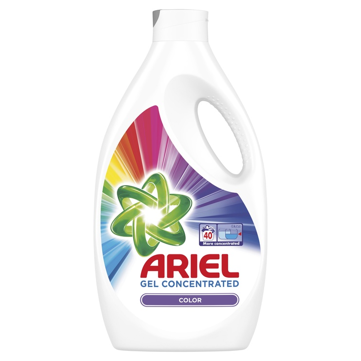 Skystas skalbiklis ARIEL Color, buteliuose, 40 sk./ 2,2 l
