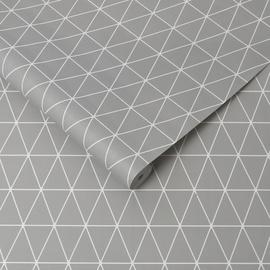 Tapetas flizelino pagrindu, Graham & Brown, 32-830, Kids@Home, pilkas, baltas, geometrinis
