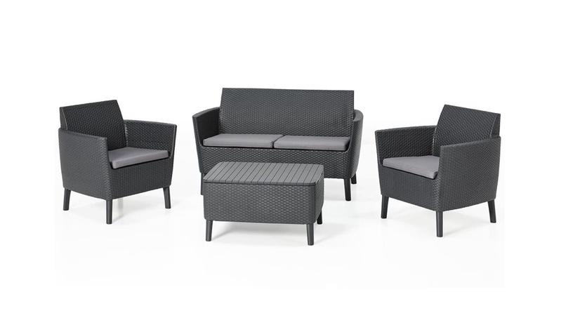 Sodo baldų komplektas Keter Salemo G F SET 236629, pilkas, 1-4 vietų