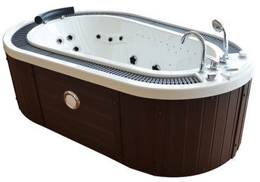 SN Bath RE1083 208x135x67cm White/Brown