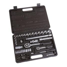 """Sukimo įrankių rinkinys Vagner SDH VG051, 10-27 mm, 1/4"""" + 1/2"""", 72 vnt."""