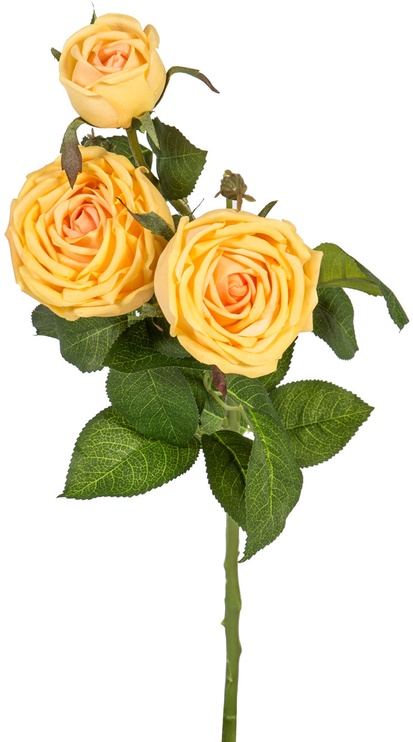 Home4you Artificial Flower Rose Yellow