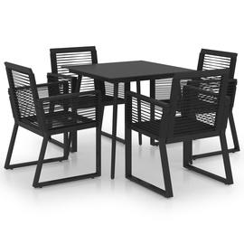 Välimööbli komplekt VLX Outdoor Dining Set 3060214, must, 4 istekohta