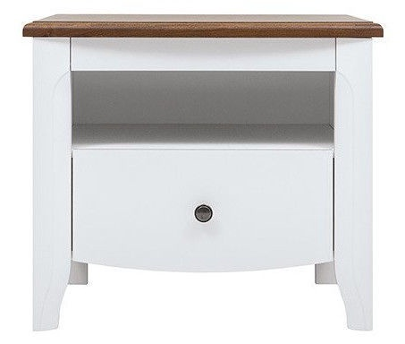 Black Red White Kalio Nightstand White/Brown