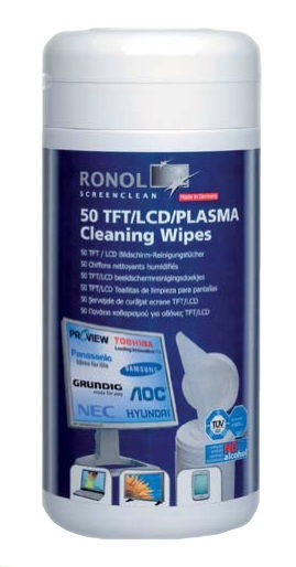 Ronol TFT/LCD/PLASMA Cleaning Wipes 50 pcs