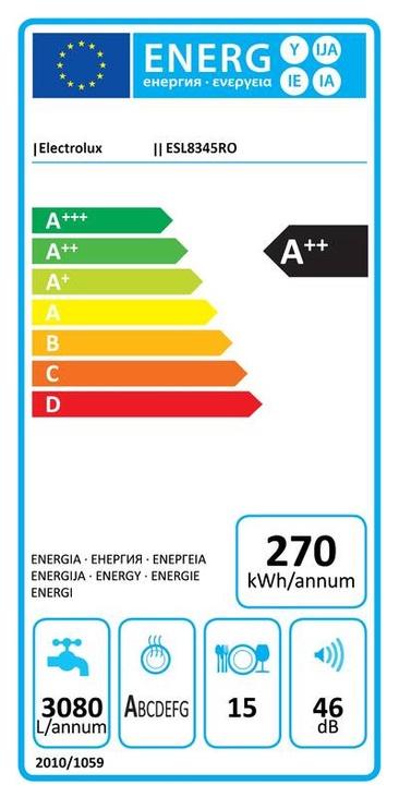 Įmontuojama indaplovė Electrolux Electrolux ESL8345RO