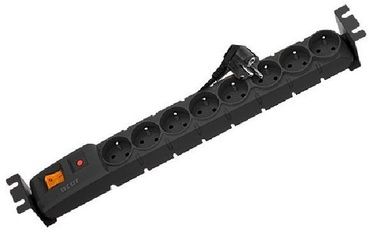 HSK Data Rack Surge Protector 8 Outlet Black 3m