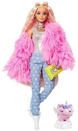Кукла Barbie Extra Pink Coat With Pig Unicorn GRN28