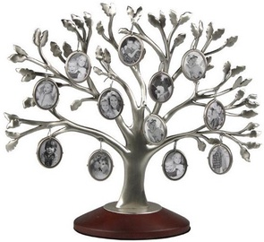 Poldom Photo Frame 12x Family Tree Silver