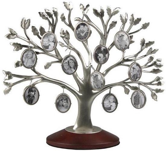 Poldom Photo Frame 12x Family Tree Silver