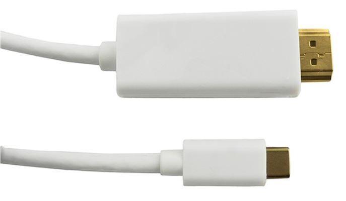 Qoltec Cable USB 3.1 / HDMI White 1m