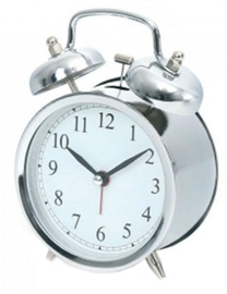 Platinet March Alarm Clock Silver