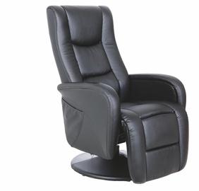 Fotelis Pulsar, su masažo ir šildymo funkcija, juodas