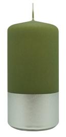 Diana Candles Pillar Candle Silver/Green 5.8x12cm