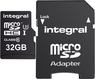 Integral 32GB micro SDHC/SDXC UHS-I Class 3 + SD Adapter