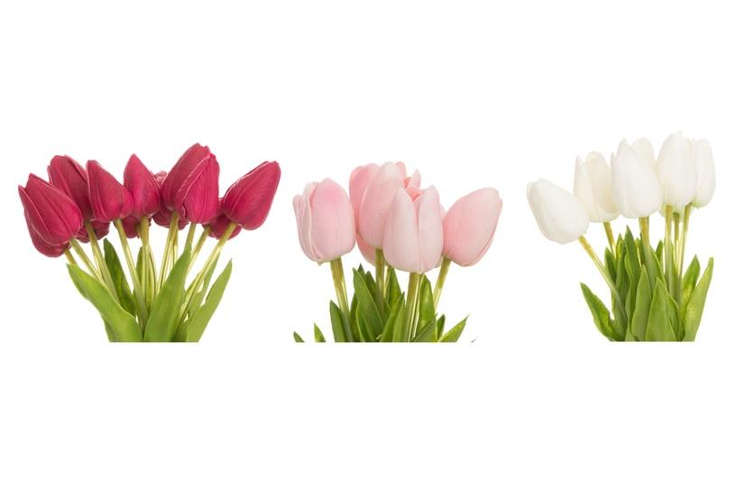 Искусственный цветок 4Living, белый/красный/розовый