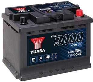 Аккумулятор Yuasa YBX9027, 12 В, 60 Ач, 640 а
