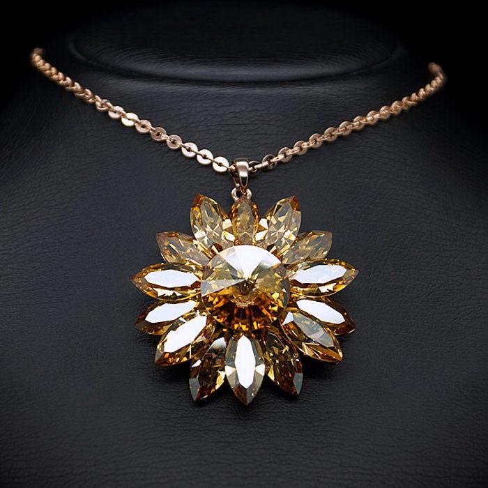 Diamond Sky Pendant Aster With Swarovski Crystals