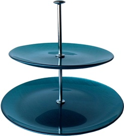 Dekor Cam Mosaic Blue Cake Stand 19.5x24.5cm