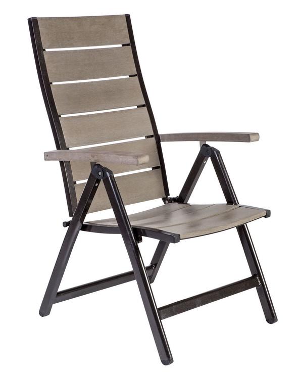 Home4you Monta Foldable Garden Chair Grey