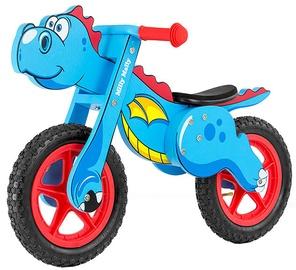 Vaikiškas dviratis Milly Mally Dino Balance Bike Blue 2909