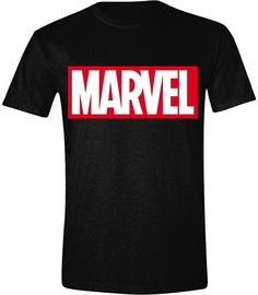 Licenced Marvel Logo T-Shirt Black L