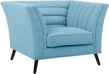 Fotelis Home4you Piano 20212, mėlynas, 112x87x77 cm