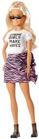 Lelle Mattel Barbie Fashionistas Long Blonde Hair & Animal Print Skirt GHW62