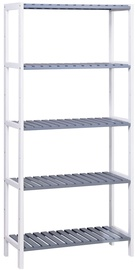 Songmics Storage Rack White/Grey 60x26x130cm