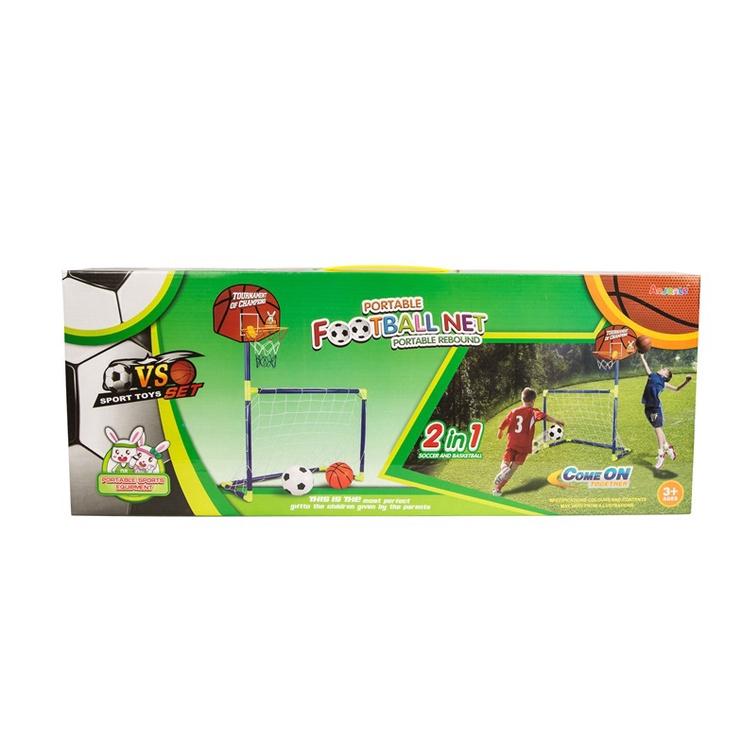 Žaisliniai futbolo vartai su krepšinio lenta