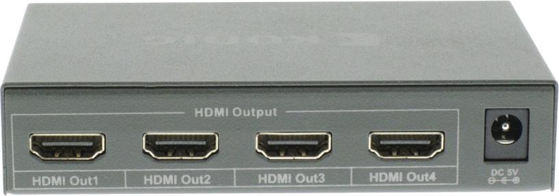 Konig 4-Port HDMI Splitter Dark Grey KNVSP3404