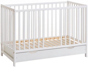 ASM Cypi II Plus Baby Cot with Mattress White
