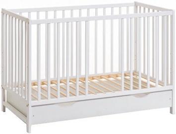 Bērnu gulta ASM Cypi II Plus Baby Cot with Mattress White