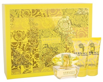 Komplekts sievietēm Versace Yellow Diamond 50 ml EDT + 50 ml Body Lotion + 50 ml Shower Gel New Design