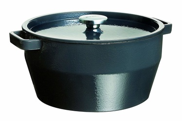 Pyrex SlowCook Round Cast Iron Casserole D28cm 6.3l Grey