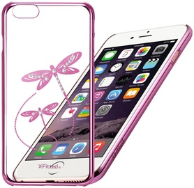 X-Fitted Dragonfly Swarovski Crystals Back Case For Apple iPhone 6/6s Pink