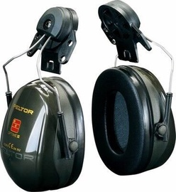 3M Peltor Optime II Headphones With Helmet Mount Dark Green