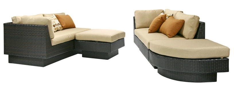 Home4you Stella Garden Sofa Set Dark Brown/Beige
