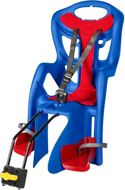Детское кресло для велосипеда Bellelli Pepe Standart, синий/красный, задняя
