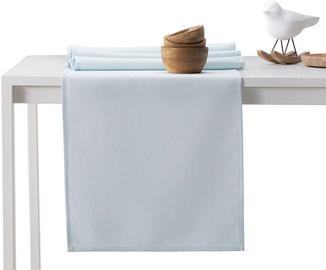 DecoKing Pure HMD Tablecloth SilverBlue Set 115x300/35x300 2pcs