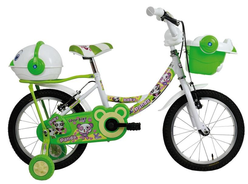 """Vaikiškas dviratis Bottari Good Bike Panda 12"""" Green White"""