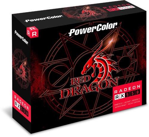 Vaizdo plokštė PowerColor Radeon RX 550 4GBD5-DH 4 GB GDDR5